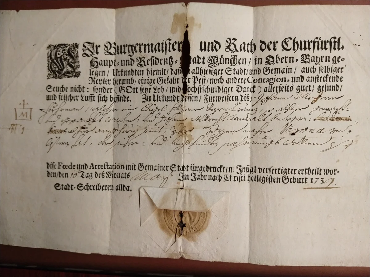Munich plague passport